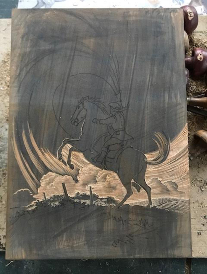 4 - ENGRAVING THE ART ONTO THE WOOD BLOCK